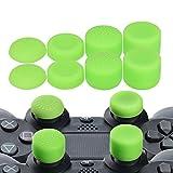 YoRHa Profesional Thumb Grips Thumbstick de los pulgares Cubierta del joystick (verde) Extra alto 8 Unidades Paquete Para PS4, Switch PRO, PS3, Xbox 360, Wii U tablet, PS2 Mando