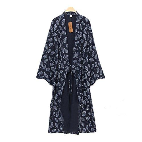 Männer Yukata Roben Kimono Robe Khan gedämpfte Kleidung Pyjamas # 07 (Kleidung Japanische Kimono)
