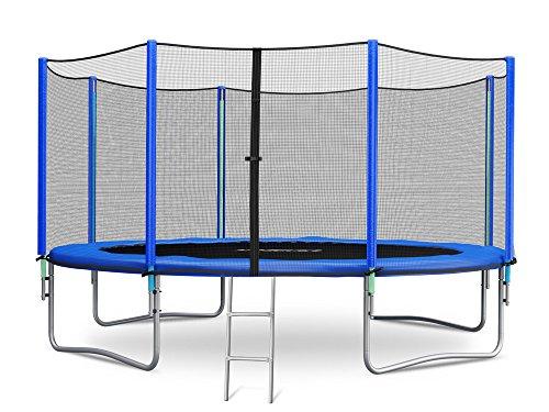 Trampolin 366 cm 12 ft mit Sicherheitsnetz Außennetz und Einstiegsleiter Neo-Sport Gartentrampolin (Neo Sport)