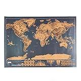 Carte du monde à gratter Haosshop - Journal de voyage personnalisable
