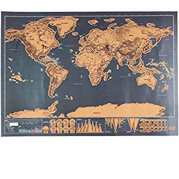 Haosshop deluxe travel edition scratch off world map poster haosshop deluxe travel edition scratch off world map poster personalized journal log gift gumiabroncs Images