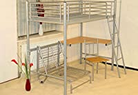 Study Silver Bunk Bed With Chair