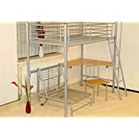 Furniture Expressions Heartlands Study Silver Bunk Bed Without Desk Chair