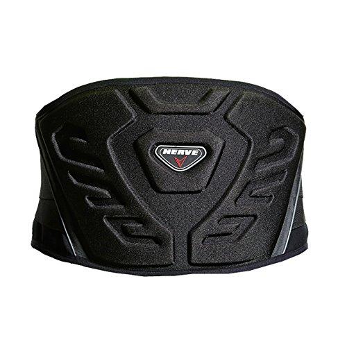 Nierengurt Motorrad Solid Verstärkt Gefüttert Fleece Flexibel Stretch Klettverschluss Sport Stütze Schutz - schwarz - M-95cm