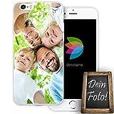 dessana Eigenes Foto Transparente Silikon TPU Schutzhülle 0,7mm dünne Handy Tasche Soft Case für Apple iPhone 6/6S Personalisiert Motiv