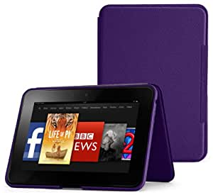 """Amazon Kindle Fire HD 8.9"""" Standing Leather Case (2nd Generation - 2012 release), Royal Purple"""