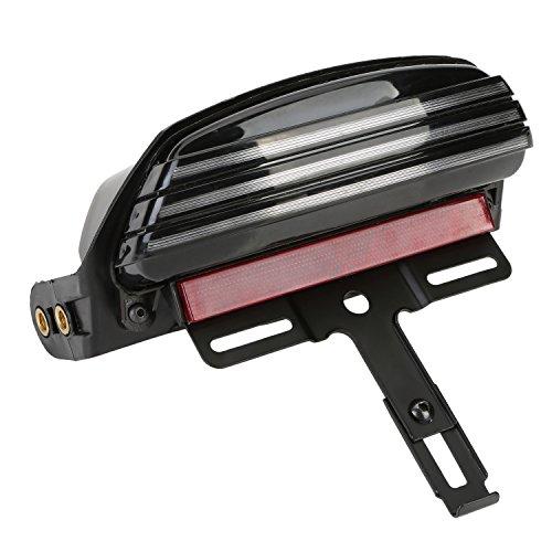 Fanale Posteriore, Portatarga, OSAN Faro Posteriore Tri-Bar Fender LED Lampada con Staffa Porta Targa Per Harley Softail FXST FXSTB FXSTC