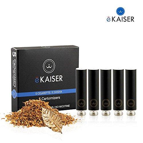 E-Cigarette-E-Liquid-5-Pack-Cartomizer-negro-Country-Tobacco-Flavor-E-Shisha-para-eKaiser-Rechargeable-eShisha-Cigarette