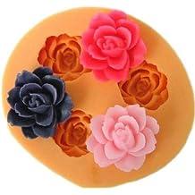 Allforhome 3 cavidades 1,8 cm Mini flor Escultura silicona azúcar resina Craft DIY moldes