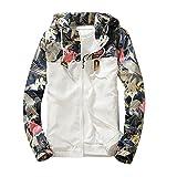 Jacke Herren DAY.LIN Männer Schlank Stehkragen Jacken Mode Sweatshirt Jacke Oberteile Lässiger Mantel Outwear Lässige