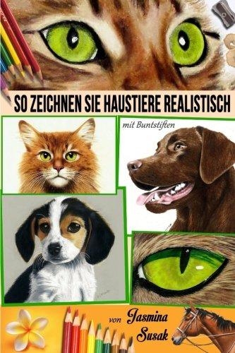 tiere realistisch: mit Buntstiften (Realistische Hund)