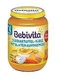 Bebivita Menüs, Süßkartoffel-Püree mit buntem Rahmgemüse, 1er Pack (1 x 190 g)
