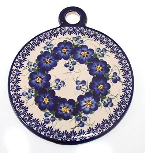Bcv Classic Boleslawiec, Polish Pottery Hand Painted Ceramic Cutting And Chopping Board 506 (U-003)