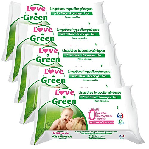 love-green-lingettes-hypoallergeniques-fleur-doranger-bio-64-pieces-lot-de-5