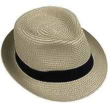83ca937318dbc Leisial Bebé Niños Verano Sombrero de Jazz Paja Hueco Gorro Protector Solar  Sombrero de Playa Sol
