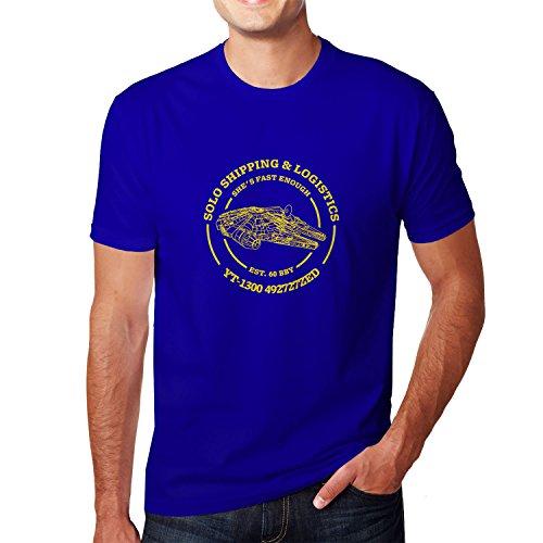 Solo Shipping & Logistics - Herren T-Shirt, Größe: L, Farbe: (Han Solo Kostüm Shirt)