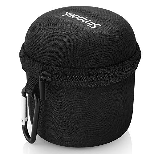 Simpeak Bluetooth Lautsprecher Tasche, Tragen Fall Tasche Case mit Silber Karabiner Für Anker SoundCore Mini/August MS425/EasyAcc Mini Bluetooth Lautsprecher, Schwarz [Shockproof] [Eva]