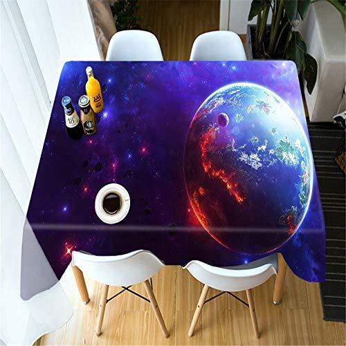 QWEASDZX Tischdecke Einfache Persönlichkeit 3D Digitaldruck Dekorative Tischdecke Staubverschmutzung Rechteckige Tischdecke Geeignet für drinnen und draußen Mehrweg 90x150cm - Leder-stamm-tisch