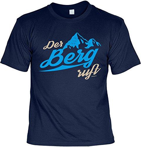 Geile-Fun-T-Shirts Wander T-Shirt der Berg Ruft Kletter Bergsteiger Shirt 4 Heroes Geburtstag-Geschenk Geil Bedruckt
