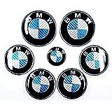 Bmw 3 Series 46 E90 E91 M3 Carbon Fibre Emblem Badge Full Kit Front Rear Steering Wheel Hub Caps