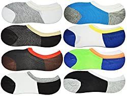 Me Stores Men's Solid Socks Loafer Socks (Pack Of 8)