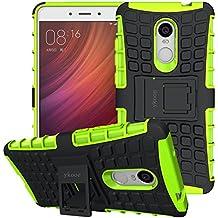 Funda Xiaomi Redmi Note 4, ykooe Silicona Carcasa Redmi Note 4 Doble Capa Híbrida Accesorios Movil Funda con Soporte para Xiaomi Redmi Note 4 4X - Verde