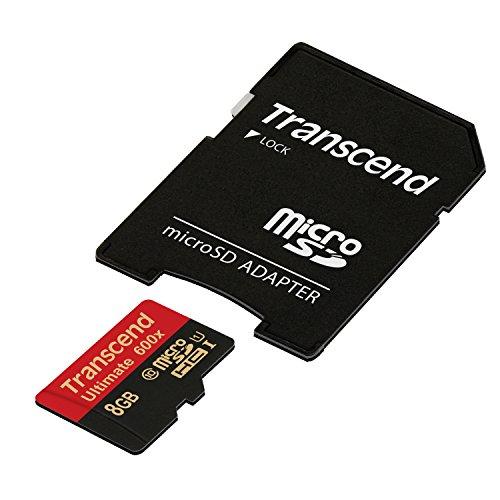 Transcend Ultimate microSDHC 8GB Class 10 UHS-I (Lesen: 90MB/s, Schreiben: 25MB/s) - Speicherkarte 8 Class 8 Gb