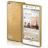 Huawei P6 Hülle Silikon Gold [OneFlow Brushed Back-Cover]