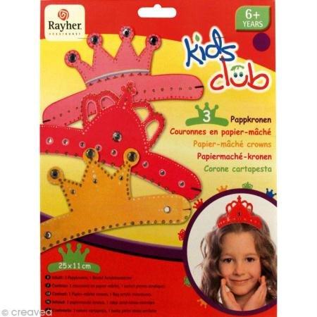Rayher 7552100 Pappmasché-Kronen,Trio,kleine Prinzessin, 25x11 cm, SB-