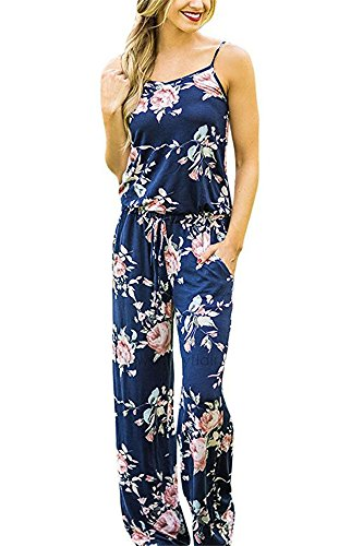 Miss Floral Womens Sleeveless Summer Floral Print Jumpsuit 3 Colour Size 6-16