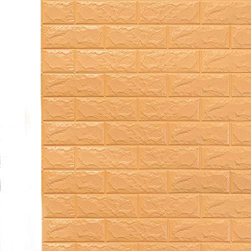HX stickers 10 pièces Brique 3D Autocollants, Mousse PE Auto-adhésif peler et collerPapier Peint Imperméable Art Carreaux de Mur pour Chambre à Coucher-B 6mm