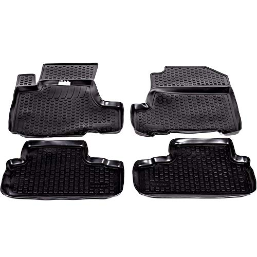 SIXTOL 4-Teiliges Auto Fußmatten Set für den Honda CR-V III -Passgenaue 3D Gummimatten mit Befestigungslöchern für perfekten Halt -Allwettertauglich und wasserdich (Auto-fußmatten Honda Crv)