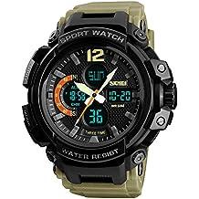 FeiWen Deportivo Digitale Cuarzo Analógico LED Electrónica Reloj de Pulsera de Hombre 50M Impermeable Outdoor Militar
