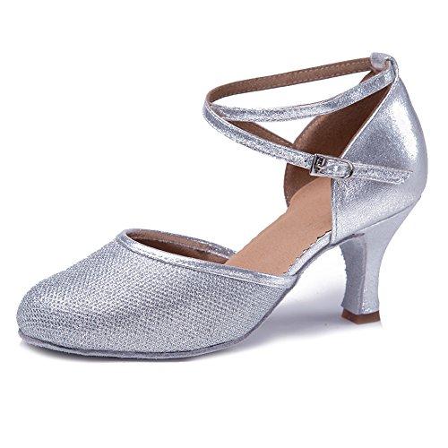 YKXLM Mujeres&Niña Zapatos latinos baile Zapatillas