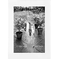 Archivio Foto Locchi Firenze – Stampa Fine Art su passepartout 50x70cm. – Immagine della Torre di Arnolfo riflessa, Firenze anni '50