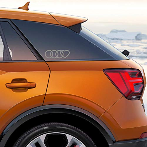 Autodomy Pegatinas Compatible Audi Aros Corazón Pack