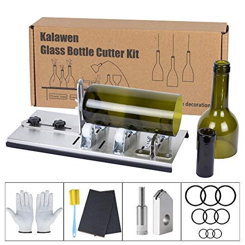 Kalawen 2019 Lastest Glass Bottle Cutter DIY Tool for Bottle Neck & Round Bottle, Stainless Steel Cutting Machine Set for Wine, Beer, Liquor, Whiskey, Alcohol, Champagne, Soda Round Bottles