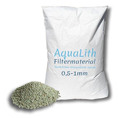 25 kg matériau filtrant zéolite 0.5-1 mm pour les étangs, les étangs de natation