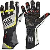 Omp One Eco Race Gants Noir/Gris/Jaune Fluo