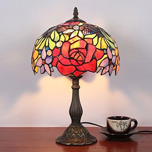 10 Inch Pastoral Retro Rose Antique style Américain Lampe de chevet Lampe de table