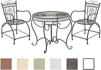 CLP Garten Sitzgruppe Sheela Aus Lackiertem Eisen | Garten Set Bestehend  Aus Einem Eisentisch
