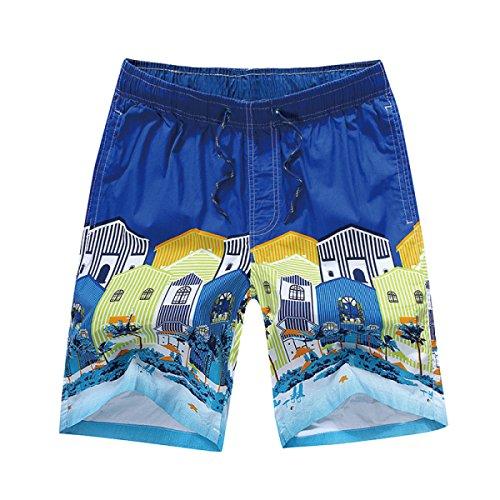 Vêtements Hommes Quick Dry L'été La Plage Les Loisirs L'impression Swim Trunk Tailles Et Couleurs Assorties C