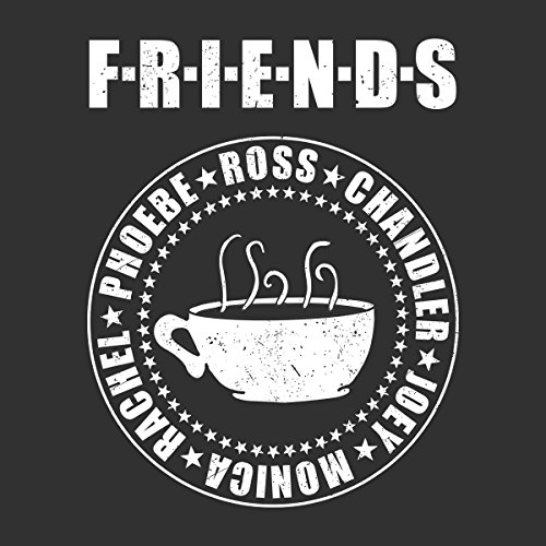 Friends Central Perk Coffee Men's T-Shirt Charcoal