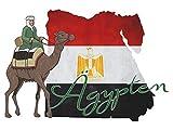 GRAZDesign 721695_30 Wandsticker Wandtattoo Aufkleber Welt für Wohnzimmer Ägypten Umriss Afrika (44x30cm)