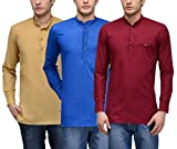 Feed Up Men's Kurtas Pack of 3