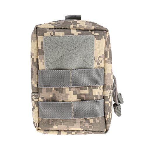 Taktische / Militärische Hüfttasche, stark und praktisch, geeignet für Jogging, Fitness, Radfahren, Bergsteigen, Wandern usw. Outdoor Aktivitäten, Sporttasche - ACU Tarnfarbe