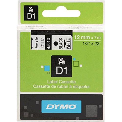 DYMO Schriftbandkassette, Schrift: schwarz, Grund: weiß, Breite 12mm, 7m