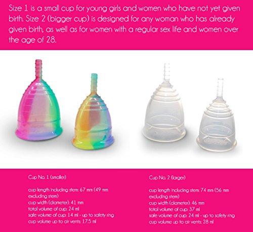 Yuuki soft 2 groß Silikon-Menstruations Tasse - 3