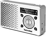 TechniSat DIGITRADIO 1 / Digital-Radio Made in Germany (klein, tragbar, für Outdoor geeignet) mit Lautsprecher, OLED-Display, DAB+, UKW, Favoritenspeicher und leistungsstarkem Akku, weiß/silber