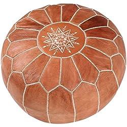 Maison de Marrakech/Nuevo Bonito Color marrón marroquí puf Puff Funda